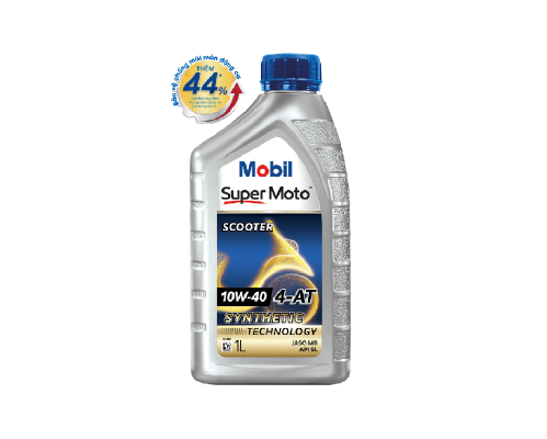 NHỚT XE SỐ MOBIL SUPER MOTO 10W-40  1L