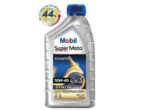 NHỚT TAY GA MOBIL SUPER MOTO SCOOTER 10W-40  1L
